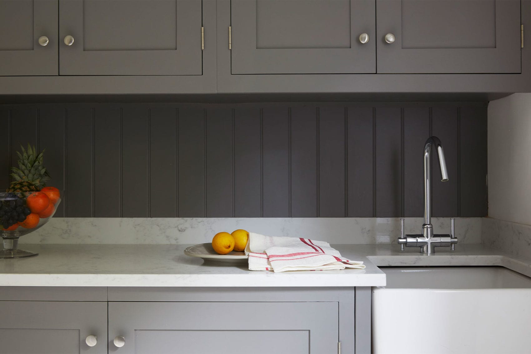 Grey shaker kitchen by Olive & Barr