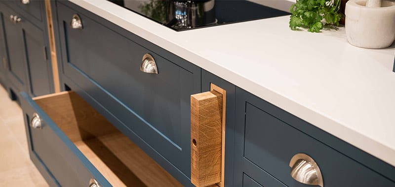 Our beautiful open shelves feature in Real Homes
