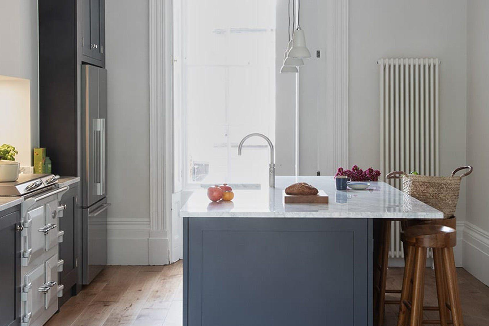 London showroom shaker kitchen feature island