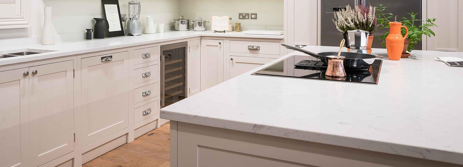 shaker kitchen stone work tops